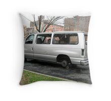 Your vehicles are safe in Bronx, New York City  Throw Pillow