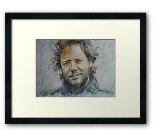 Russell Crowe - Portrait 1 Framed Print