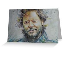 Russell Crowe - Portrait 1 Greeting Card