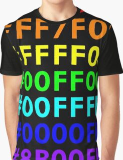 Rainbow HTML color codes Graphic T-Shirt