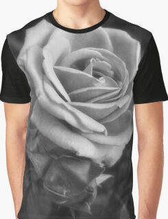 Pink Roses in Anzures 2 B&W Graphic T-Shirt