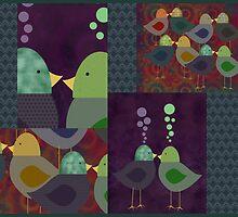 Birds Collage by Cherie Balowski