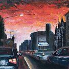 Flinders Street Sunset (revised) by rjpmcmahon