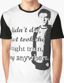 "Cory Monteith ""He didn't die"" Graphic T-Shirt"