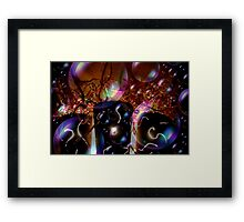 A Bubbly Happy New Year Abstract Framed Print