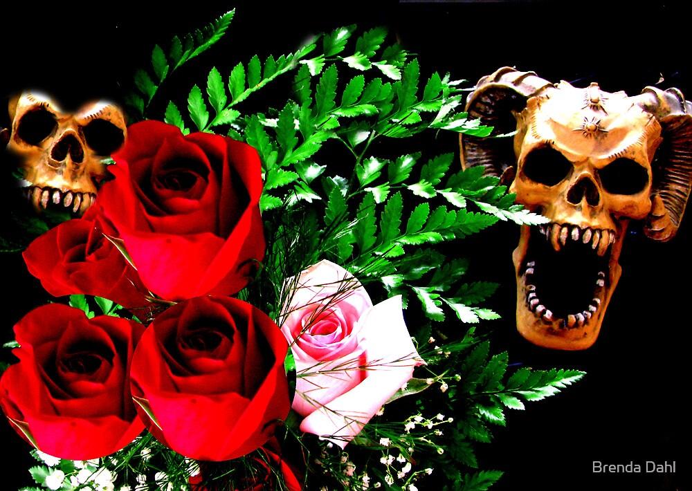 Skull N' Roses by Brenda Dahl