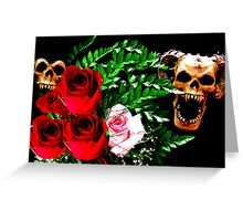 Skull N' Roses Greeting Card