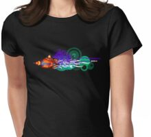 Flower Power vs Rocket Science Womens Fitted T-Shirt