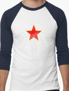 Lucky Star (Red is the new blue) Men's Baseball ¾ T-Shirt