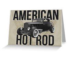 American Hot Rod - brown version Greeting Card