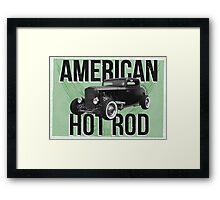 American Hot Rod - green version Framed Print