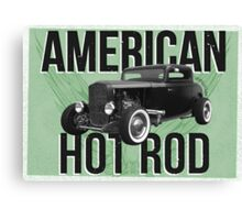 American Hot Rod - green version Canvas Print