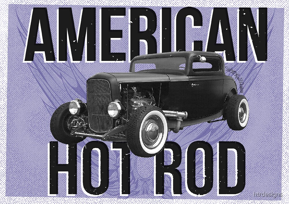 American Hot Rod - blue version by htrdesigns