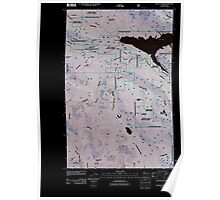 USGS Topo Map Washington State WA Wallace Lake 20110428 TM Inverted Poster