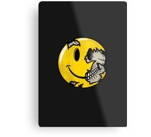 Smiley face skull Metal Print