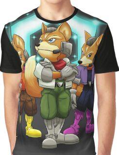 Fox Victory Pose T-Shirt  Graphic T-Shirt