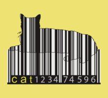 Barcode Cat Kids Tee