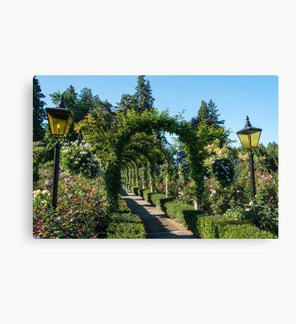 Arbour, Butchart Gardens Canvas Print