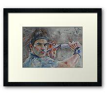 Roger Federer - 6 Framed Print