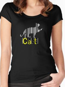 Barcode Cat  Women's Fitted Scoop T-Shirt