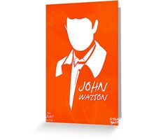 John H Watson Greeting Card
