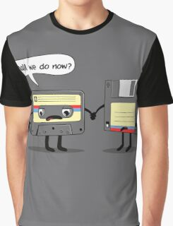 The Obsoletes (Retro Floppy Disk Cassette Tape)  Graphic T-Shirt