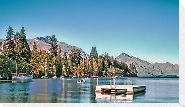 Lake Wakatipu, Queenstown, New Zealand by elspiko