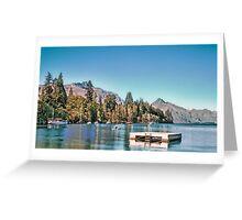 Lake Wakatipu, Queenstown, New Zealand Greeting Card