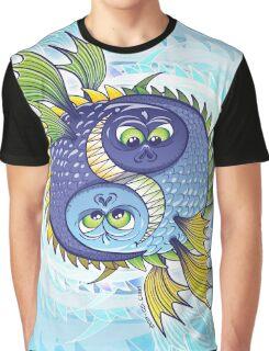 Monstrous Yin Yang Graphic T-Shirt