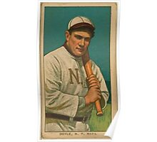 Benjamin K Edwards Collection Larry Doyle New York Giants baseball card portrait 002 Poster