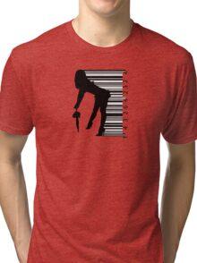 Barcode Sexy girl Tri-blend T-Shirt
