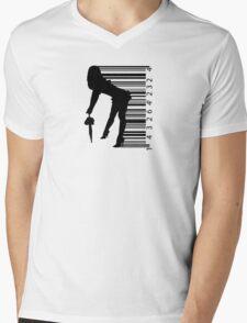 Barcode Sexy girl Mens V-Neck T-Shirt