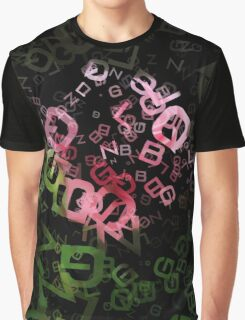 Pink Roses in Anzures 3 Letters 3 Graphic T-Shirt