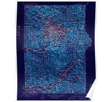 USGS Topo Map Washington State WA Mt Rainier 242670 1928 125000 Inverted Poster