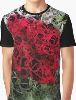 Red Rose Edges Letters 4 Graphic T-Shirt
