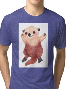 Otterly Awesome Otter Tri-blend T-Shirt