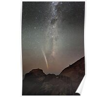 Comet Lovejoy and the Milky Way Poster