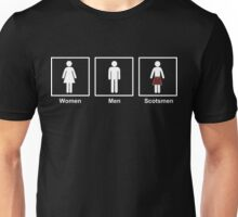 Women, Men, Scotsmen Funny Toilet Humor Design Unisex T-Shirt