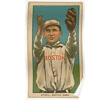 Benjamin K Edwards Collection Jake Stahl Boston Red Sox baseball card portrait 001 Poster