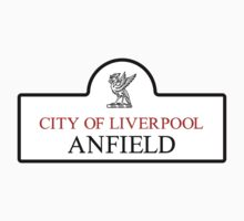 Anfield District, Liverpool Road Sign, UK Baby Tee