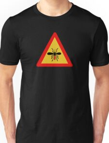 Beware of Mosquitoes, Traffic Sign, Finland Unisex T-Shirt
