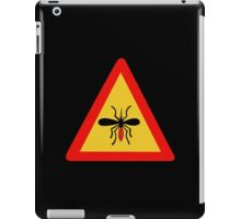 Beware of Mosquitoes, Traffic Sign, Finland iPad Case/Skin