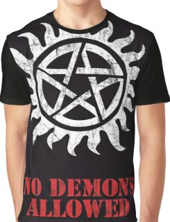 Supernatural No Demons Allowed [WHITE] Graphic T-Shirt