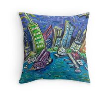 On The Hudson River Throw Pillow