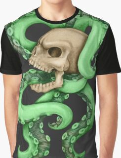 Skull with Neon Tentacles Graphic T-Shirt