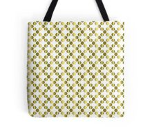 Gold Foil Dots on White Tote Bag