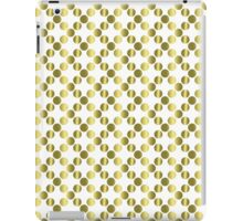 Gold Foil Dots on White iPad Case/Skin