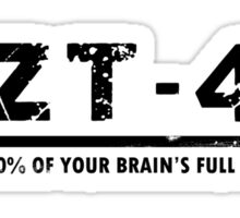 NZT (white tshirt) Sticker