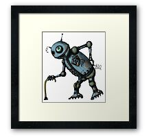 Funny Old Robot cartoon drawing art Framed Print