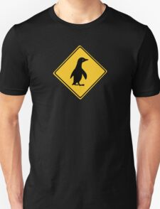 Attention Penguins, Traffic Sign, New Zealand T-Shirt